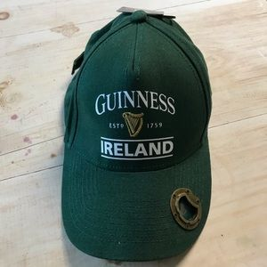 NWT Guinness Hat with Bottle Opener